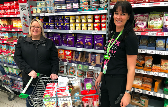 Asda Trolley Dash for Bake Sale